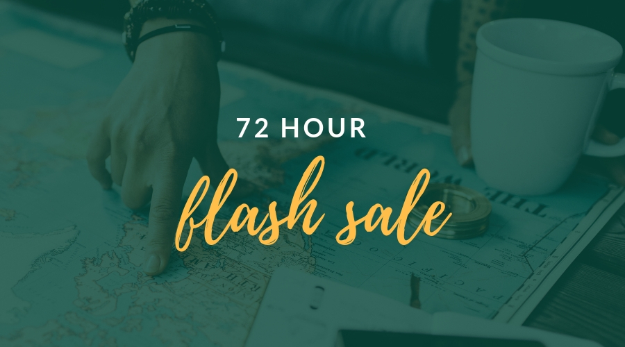 72 Hour Flash Sale - save up to 25%!