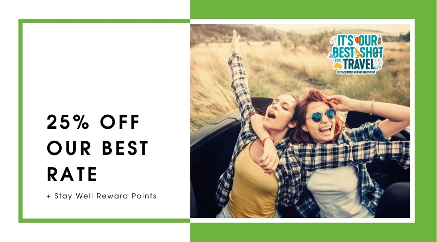 It's our Best Shot for Travel – Save up to 25%