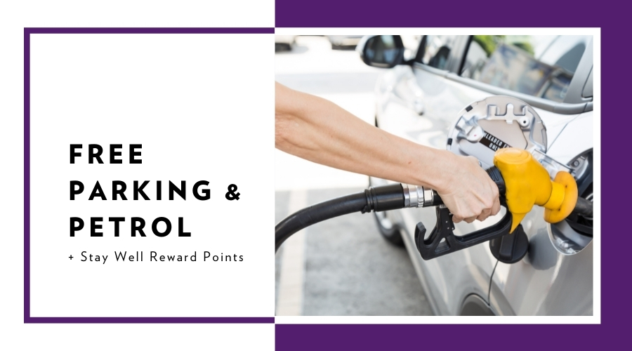 Stay Local with Parking & and a Petrol Voucher
